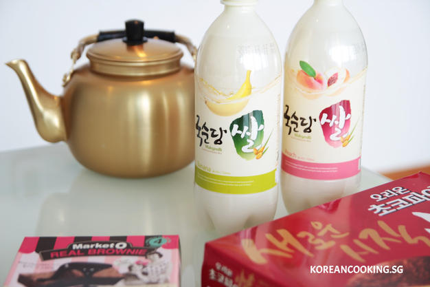 KOREAN COOKING, DRINKS, MAKGEOLLI PEACH, BANANA