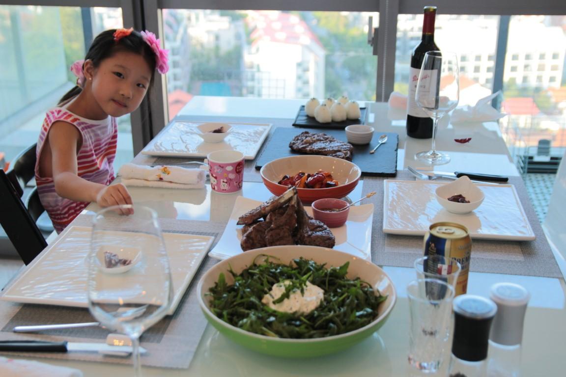 Sunday dinner at home