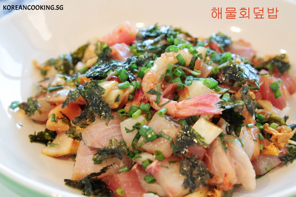 Korean Sashimi rice bowl