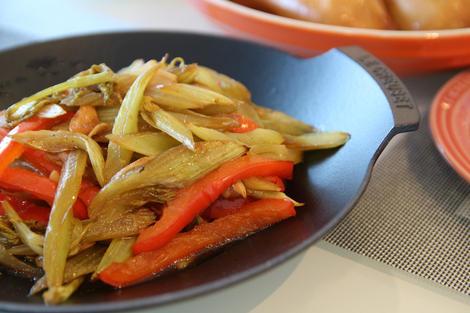 vegetables in oven