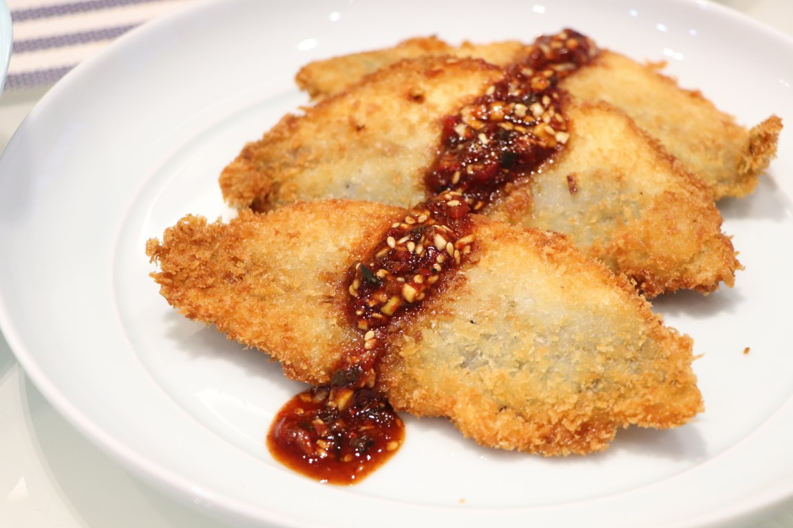 deep-fried horse mackerel with spicy Korean sauce?