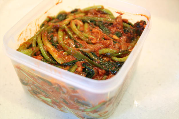 Komatsuna kimchi