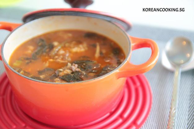 Korean Spicy Chicken soup