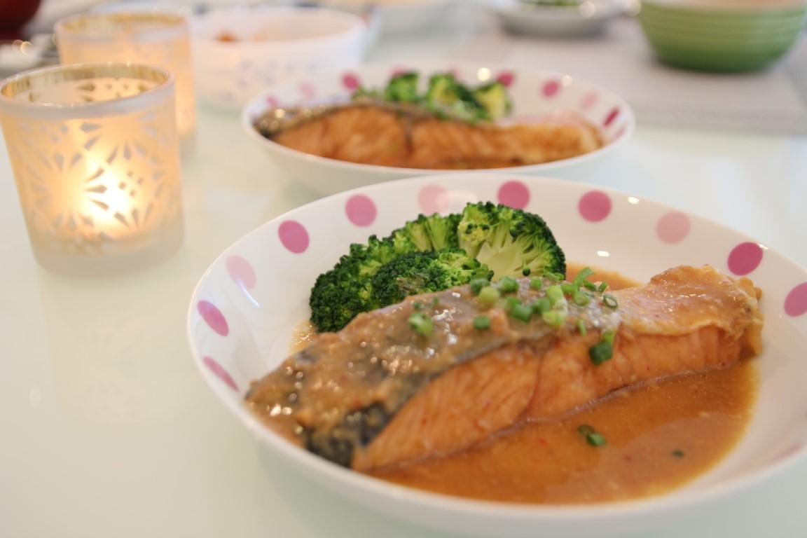 Spicy miso salmon