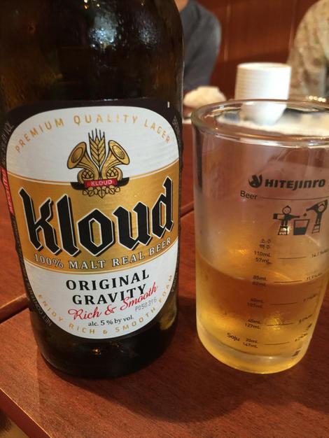 Korean beer Kloud