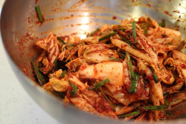 Fresh Napa cabbage kimchi