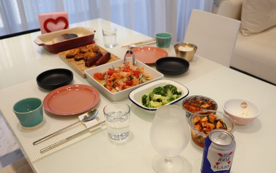 Saturday dinner at home