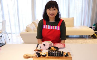 Gimbap (김밥) lesson with Jacqueline