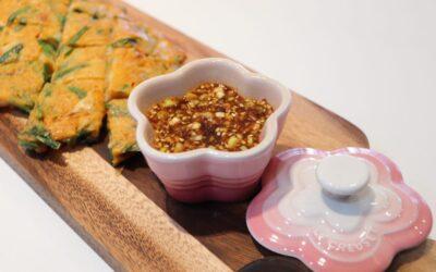 Online lesson-Prawn kimchi pancake